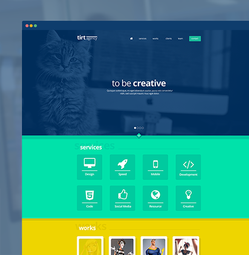 tirt agency psd template
